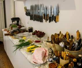 Cutlery and our raw ingredients for the day