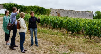 The team at Château de Béru is small, so Gaelle was able to explain history, grape growing, cellar work, everything!