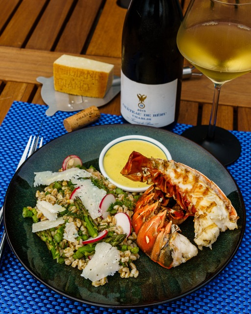 Château de Béru Chablis with grilled lobster