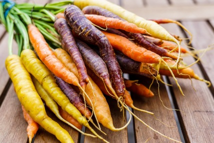 I love multi-color carrots but was surprised the purple ones cooked faster than the others