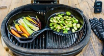 I love cooking veggies on the grill. Cast iron is the ticket!
