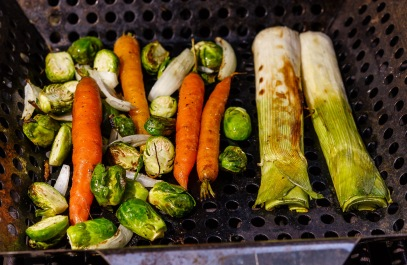 When the local brussels sprouts and carrots show up at the farmers market, we know fall is coming