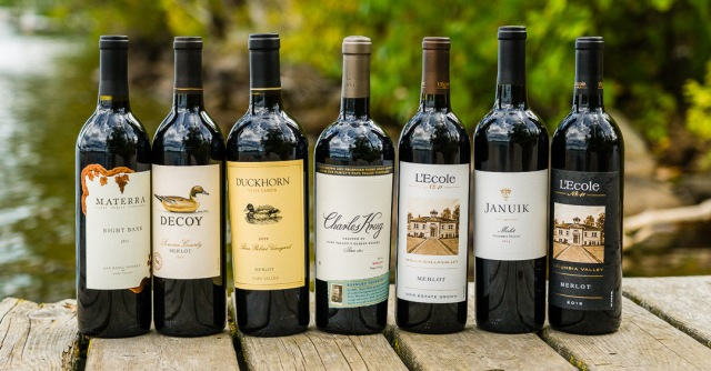A selection of Merlot Wines for #MerlotMe