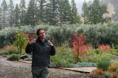 Joseph Brindley, the director of organic and biodynamic vineyards was our host.