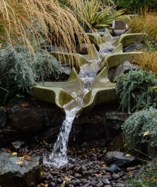 This fountain feature had a dual purpose. It was both beautiful and served as a mixing vessel for the biodynamic tea preparations made several times during the year.