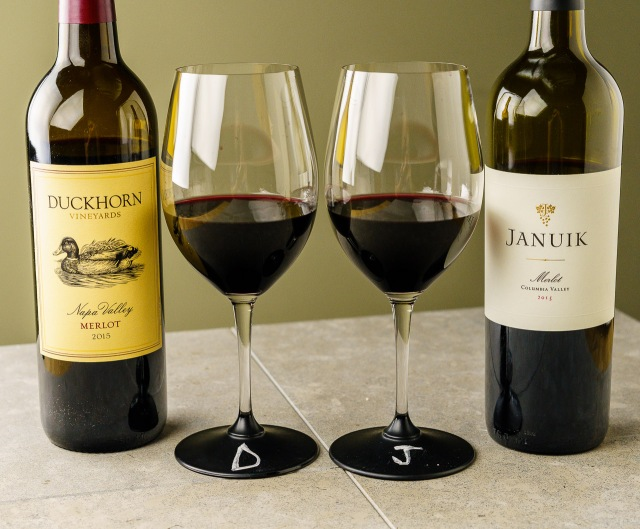 Duckhorn Napa Valley Merlot and Januik Columbia Valley Merlot