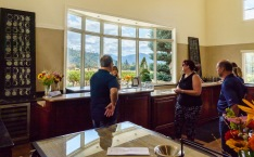 We met up with Craig and owners Denise and Bryan at the Troon tasting room. What a beautiful view out the window!