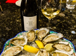 Oysters are a natural partner for Pouilly-Fume. We shucked them ourselves, French-Style!