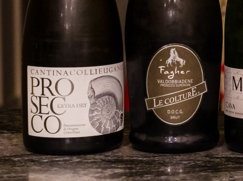 Prosecco wine labels