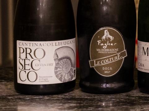 Prosecco wine labels