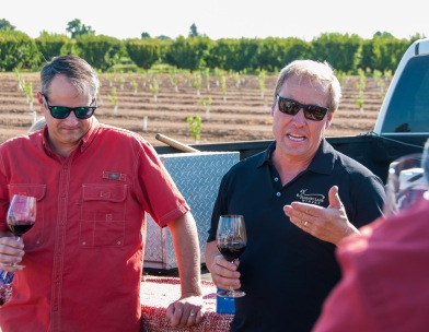 Kyle Lerner (on the right) telling us about sustainable farming in Lodi. He's joined by head winemaker Chad Joseph (on the left)