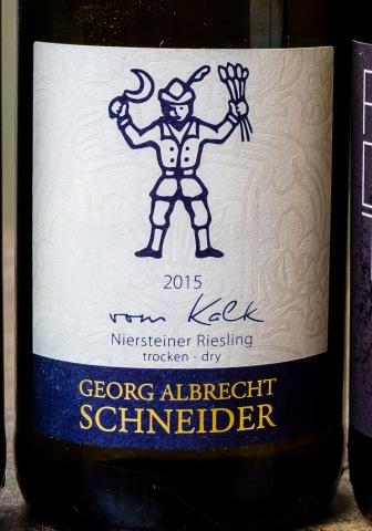 """Georg Albrect Schneider """"vom Kalk"""" Riesling"""
