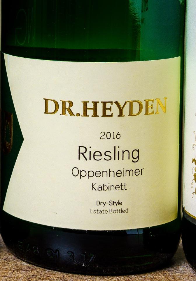 Dr. Heyden Kabinett Riesling label