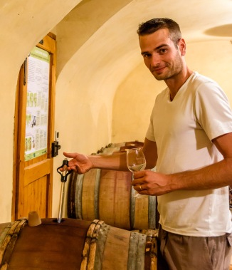 Tomas Agatensi is in the process of taking over the main role in the winery.