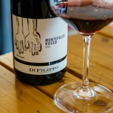 Montefalco Rosso is a blend of Sangiovese, Sagrantino, and Barbera. Even though the Sagrantino is only 10%, there is no mistaking its' presence!