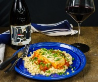 Don't hesitate to serve a red wine with fish, especially ocean fish and a red sauce!