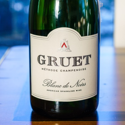 Pinot Noir is one of the grapes in Champagne and is often used in American sparkling wines. This Gruet Blanc de Noir is 100% Pinot Noir and is a great way to start a tasting.