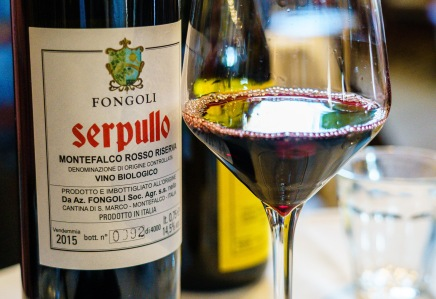 Mostly Sangiovese, the Sagrantino adds body and structure