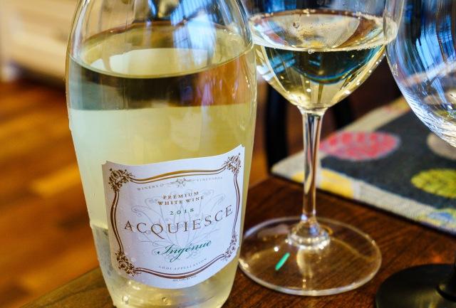 "Acquiesce Winery ""Ingenue"" White Wine blend from Lodi California"