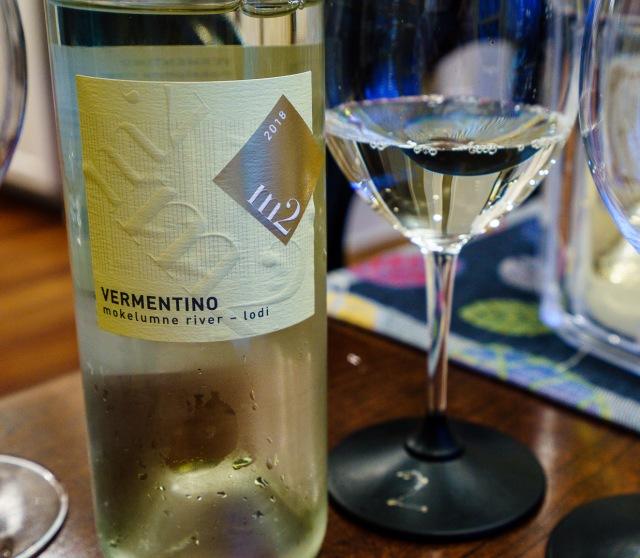 M2 Wines Vermentino white wine, Mokelumne River, Lodi 2018