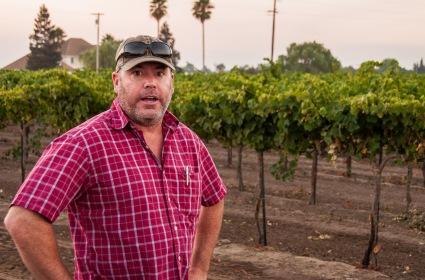 Adam Mettler met us in the vineyard