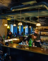 Bas Bas & Staff wine bar is a friendly spot in a residential neighborhood.