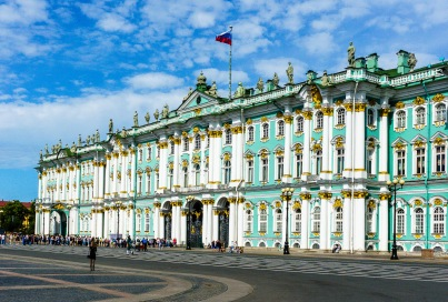 Catherine's Winter Palace and home of the Hermitage museum. The highlight for most people on the trip.