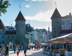 Tallinn has an old walled city at its' historic center