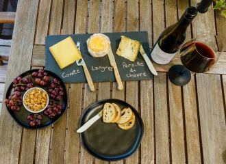 Let each person choose which cheeses and how much for their own personal cheese course.