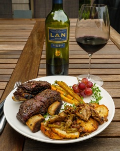 Dinner's ready, and a perfect match for LAN Rioja Reserva