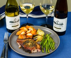 I love white wines with pork, with Riesling being a classic choice