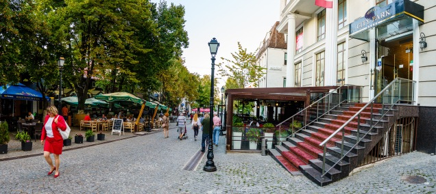 The City Park hotel is located on a charming and quiet pedestrian street in Chișinău