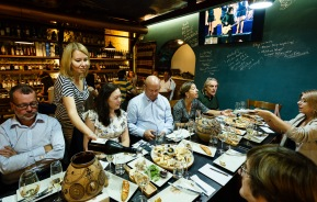 There are several wine bars in Chisinau, some serve delicious food as well