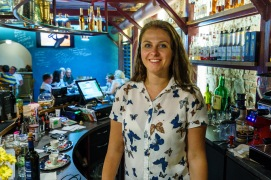Snejana, the owner of the bar welcomed us and made sure we felt at home