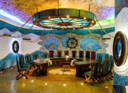 The Cricova winery is built entirely underground, with some over-the-top themed tasting rooms
