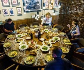 The restaurant at Castel Mimi can cater to small and large groups.