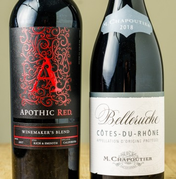 """Apothic Red Winemaker's Blend doesn't tell you much except it's from California. If you know, """"Cotes-du-Rhone"""" tells you both where the grapes are from and which grapes are in the wine."""