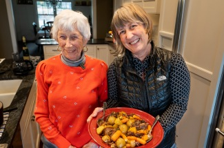 Joyce (and Julie) with pot roast day 1