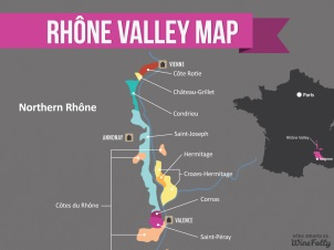 Map of the Northern Rhone courtesy of winefolly.com