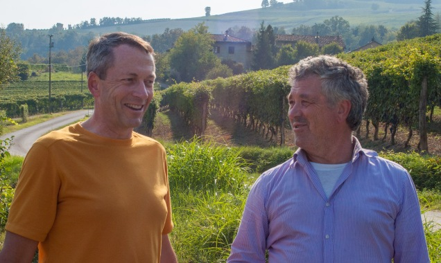 Nicola's father, Federico, a winemaker at one of the major Barolo producers, checks in