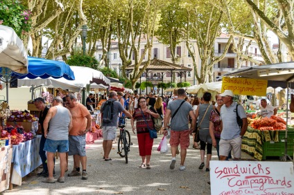 You never know when you'll stumble into Market Day in a French Village