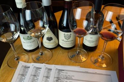 1-Gruner Veltliner 2-Chardonnay 3-Pinot Noir 4-Nebbiolo