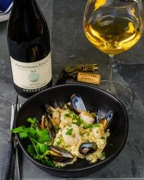Antonelli Trebbiano Spoletino with shrimp risotto