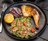 Tabouleh + Sauvignon Blanc, roast chicken + Merlot