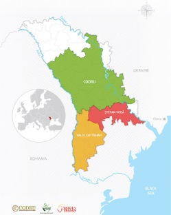 A large portion of Moldova is dedicated to grape growing and winemaking