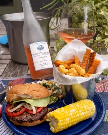 A nice chilled rosé is great with a burger out on the porch