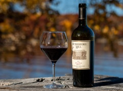 Rutherford Hill Merlot - perfect on a fine fall afternoon