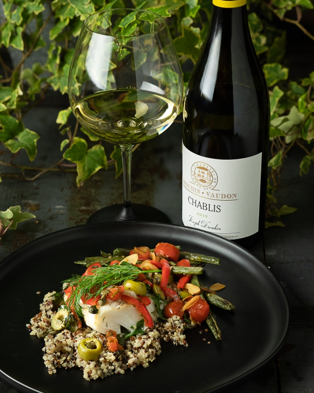 Chablis is a perfect companion with light and elegant fish in parchment