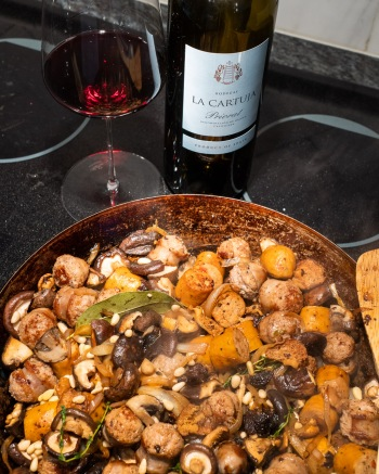 Sausage and mushrooms, what's not to like?