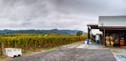 Quite a setting for winemaking!